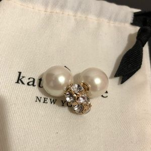 Reversible crystal pearl back earrings